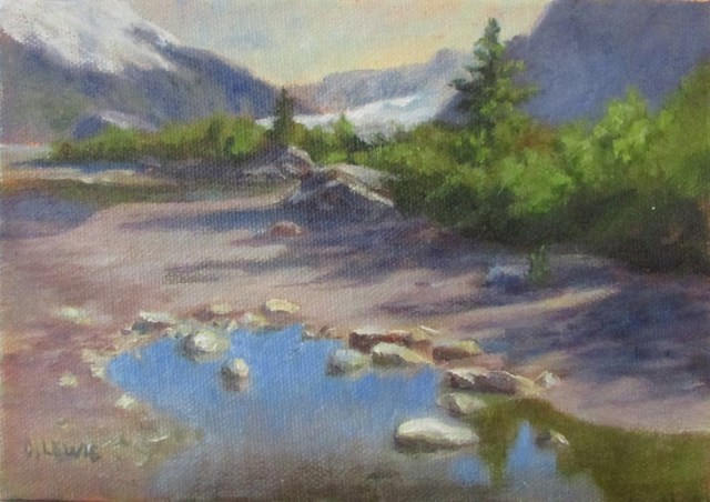 """""""Early Morning at MendenHall"""" original fine art by Christine Lewis"""