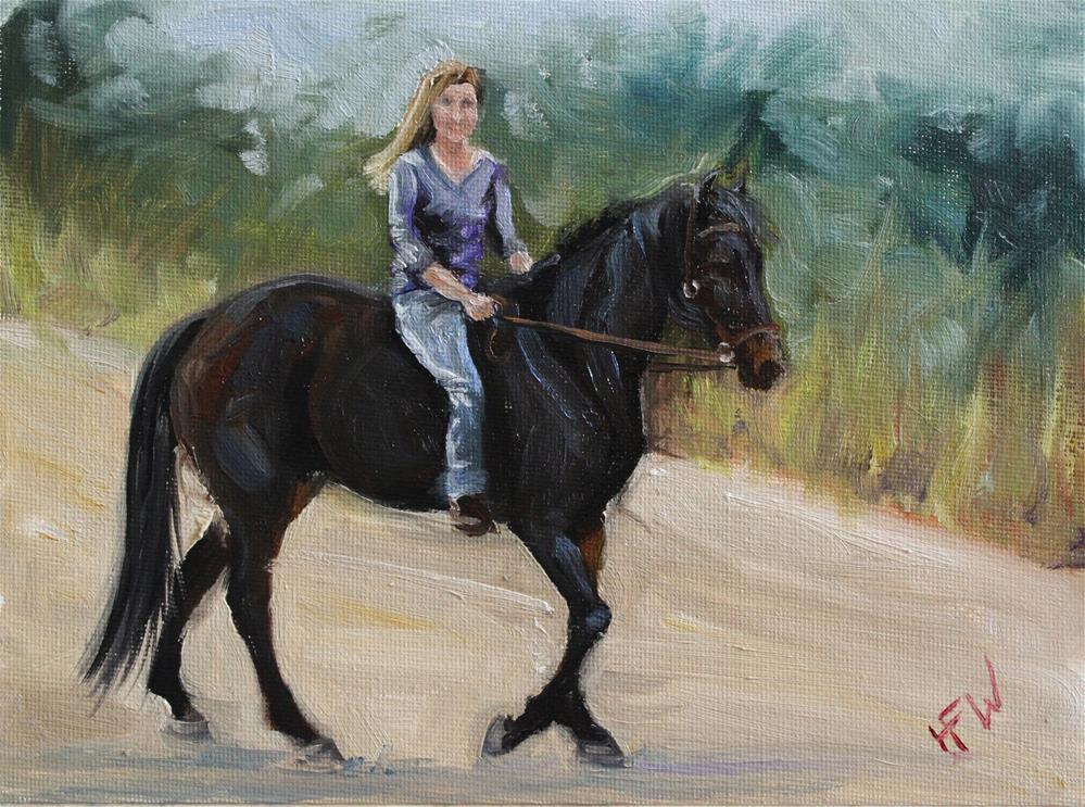 """""""Riding"""" original fine art by H.F. Wallen"""