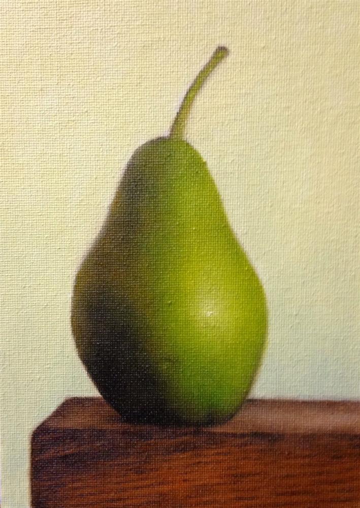 """Forelle Pears"" original fine art by Jonathan Aller"