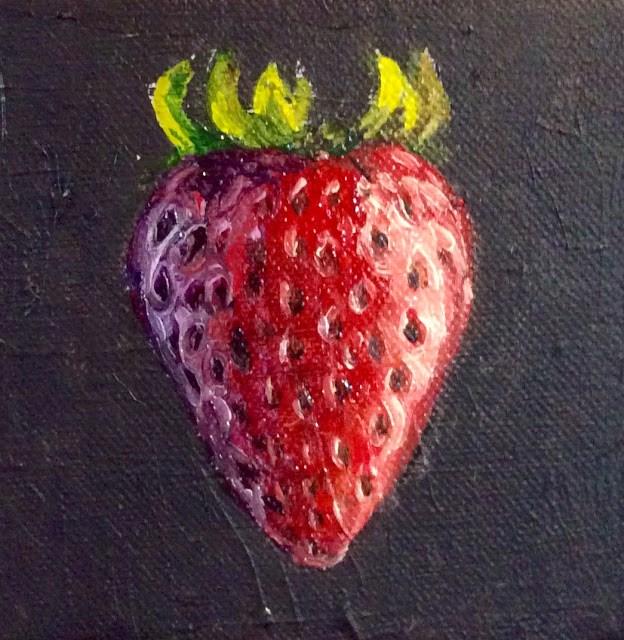"""""""Strawberry"""" original fine art by Hilary J. England"""