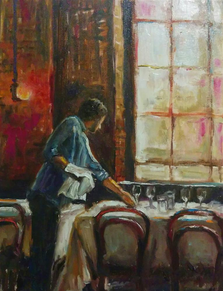 """Afternoon Shift"" original fine art by pepa sand"