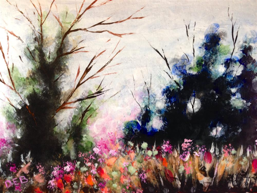 """Mental Gardening"" original fine art by Debbie Yacenda"