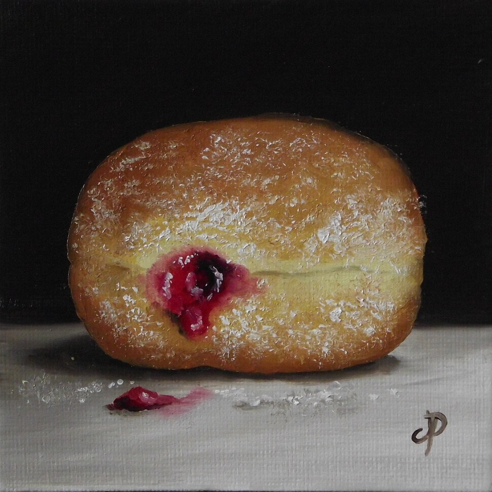 """Little Doughnut"" original fine art by Jane Palmer"