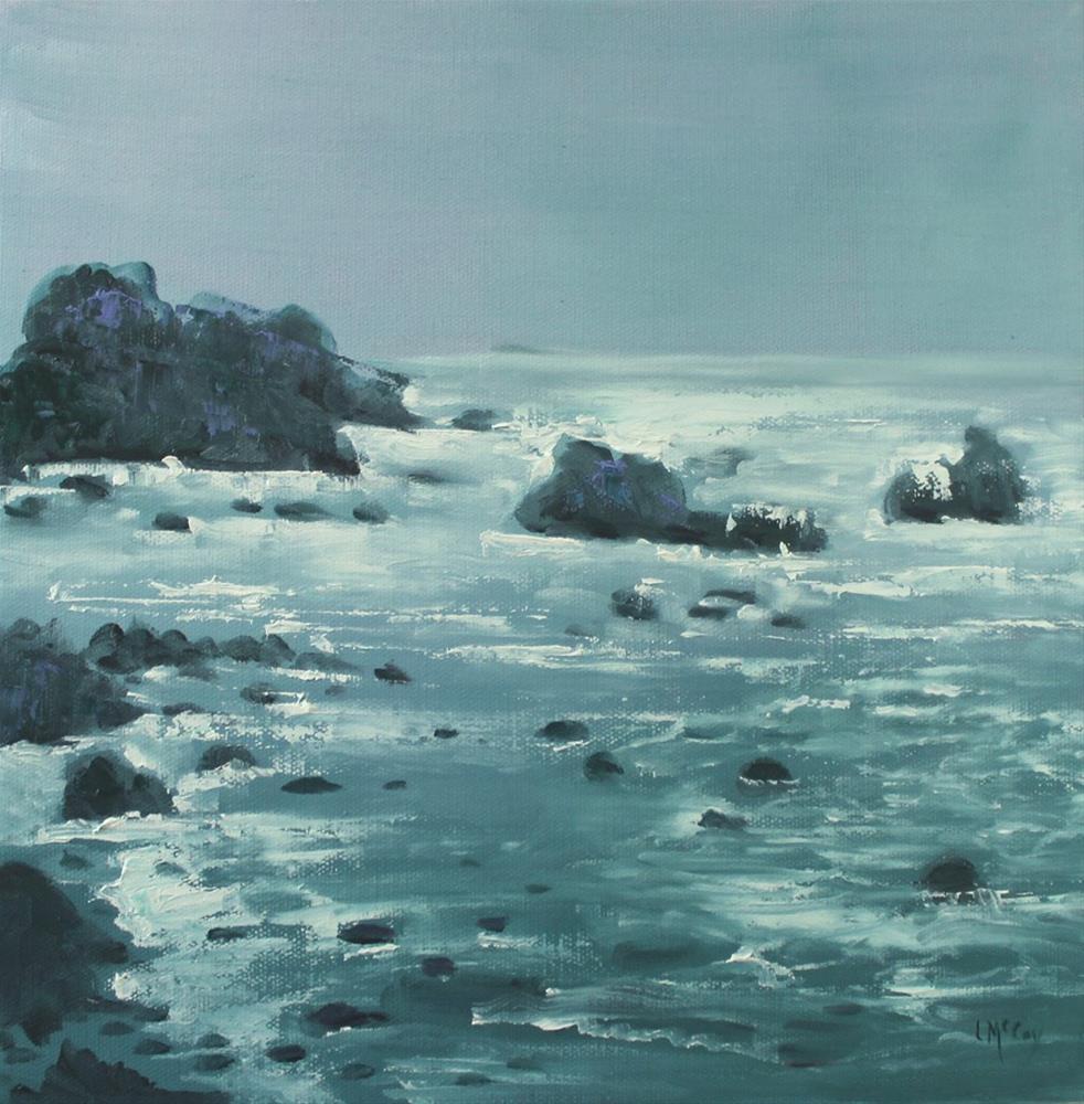 """California Coast Near Bodega Bay Seascape"" original fine art by Linda McCoy"