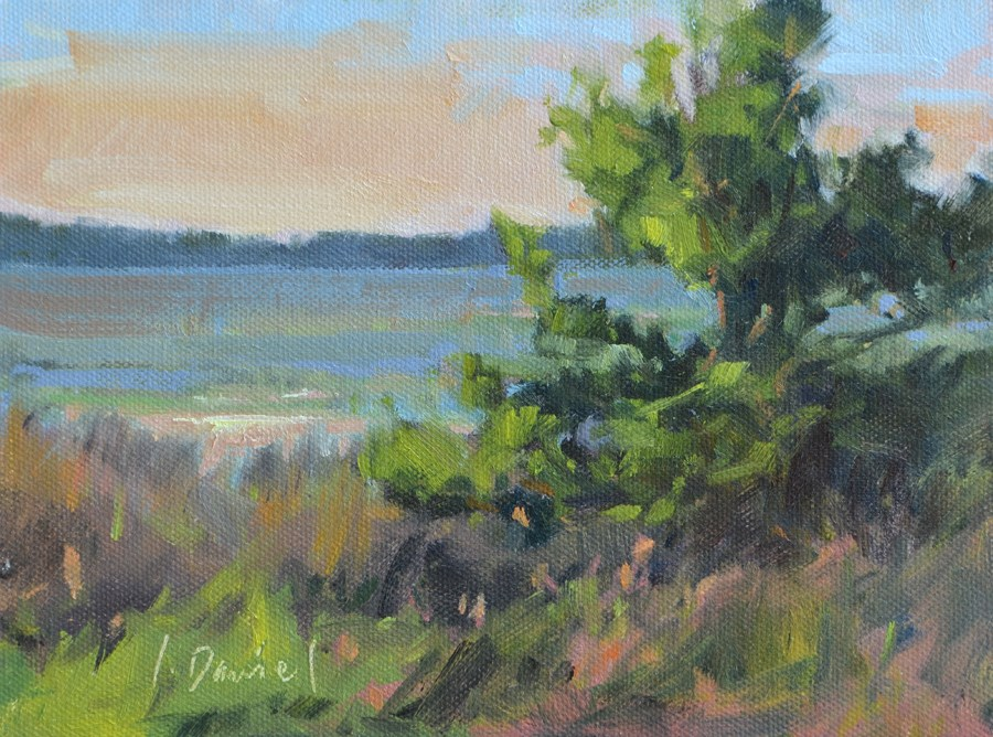 """Marsh Sunset - Georgia Coast"" original fine art by Laurel Daniel"