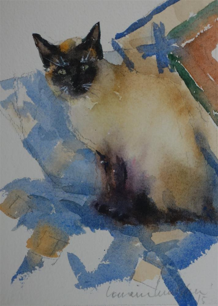 """Fancy Cat"" original fine art by Lorraine Lewitzka"