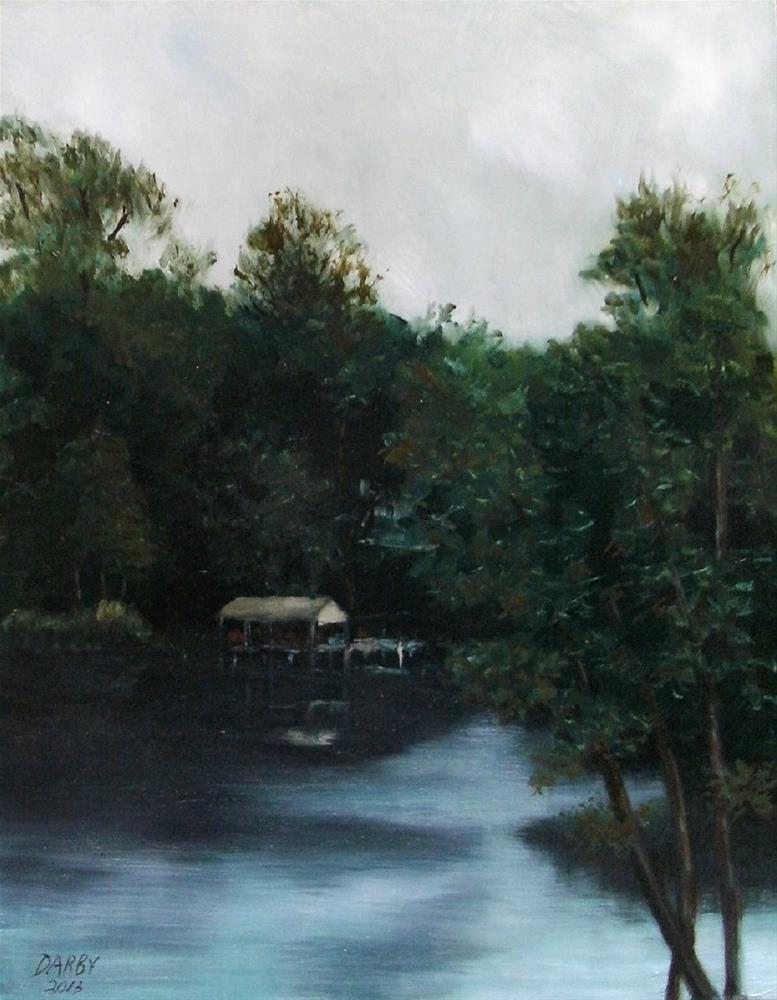 """Cane River Lake at Dusk"" original fine art by Lynn Darby"