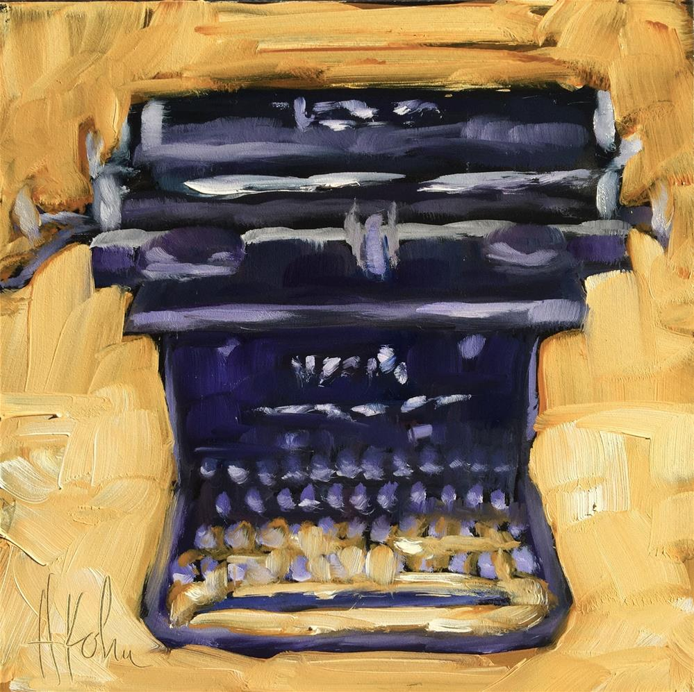 """Silent Typewriter"" original fine art by Hallie Kohn"
