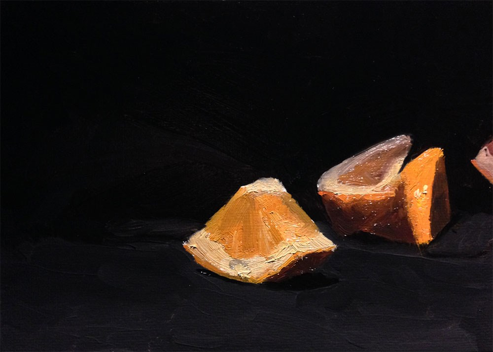 """Orange Cuts"" original fine art by Chris Beaven"
