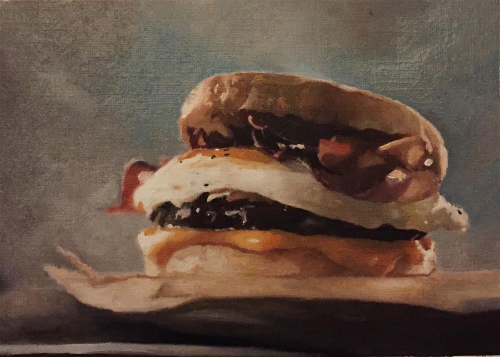 """""""Breakfast"""" original fine art by John Cameron"""