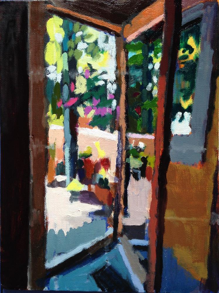"""Out My Studio Door"" original fine art by Pamela Hoffmeister"