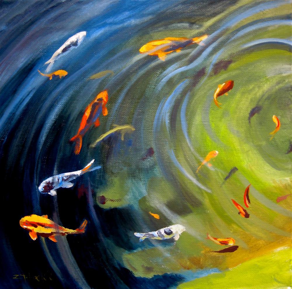 """Koi Pond"" original fine art by Zack Thurmond"
