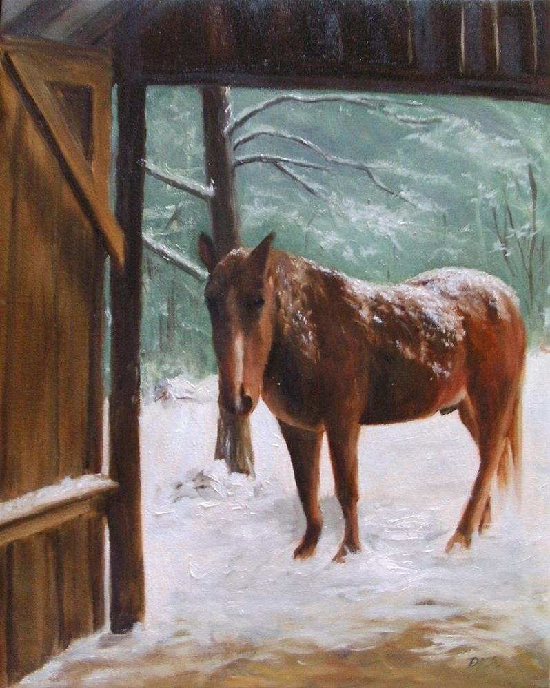"""Coming out or what?"" original fine art by Lynn Darby"