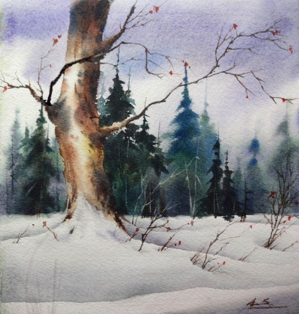 """Snow Patrol"" original fine art by Arena Shawn"