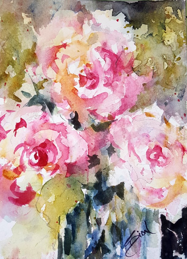"""The Pleasure is Mine"" original fine art by Sue Dion"