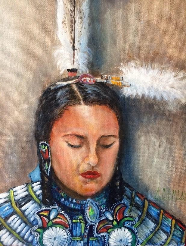 """""""Fancy Shawl"""" original fine art by Jolynn Clemens"""