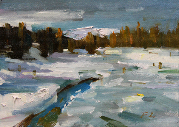 """Tahoe Snow"" original fine art by Fongwei Liu"