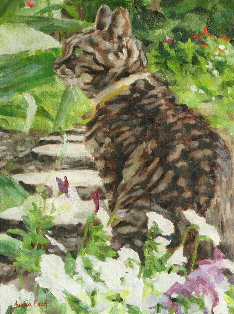 """""""Booboo the Cat"""" original fine art by Audra Esch"""