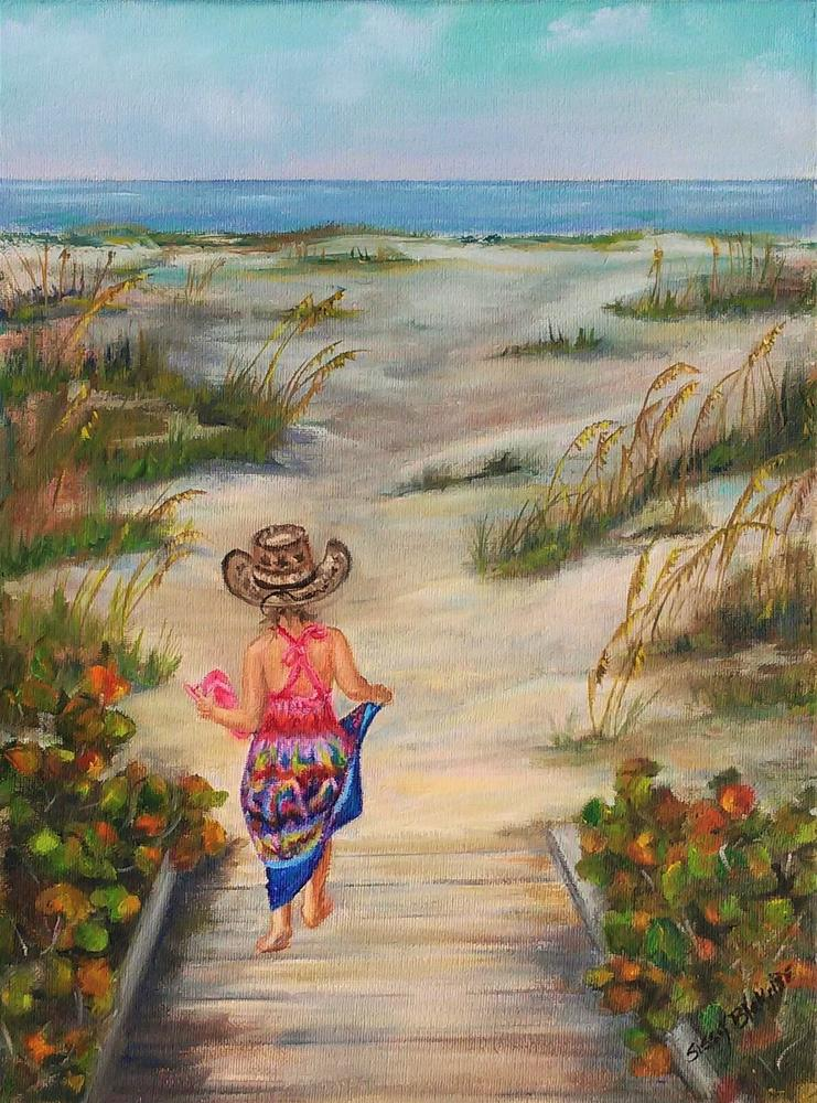 """Heading Down the Path"" original fine art by Sissy Blakslee"
