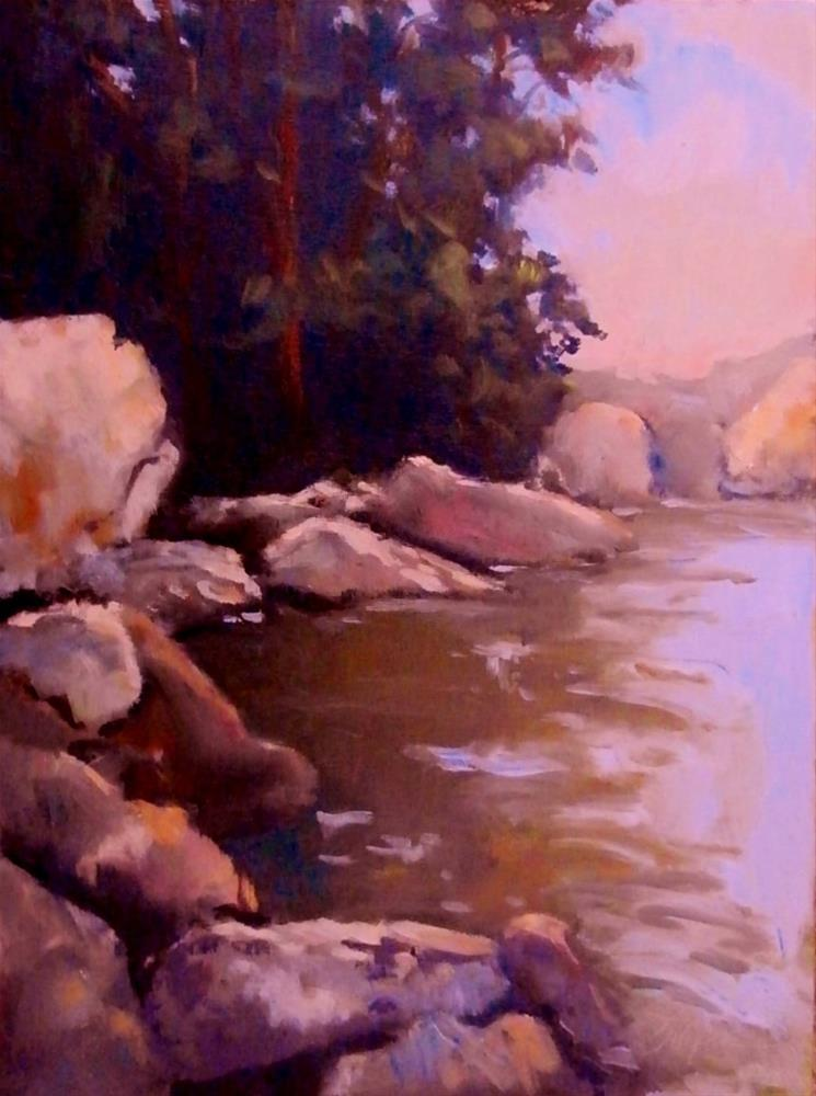 """An Idyllic Spot"" original fine art by Connie Snipes"