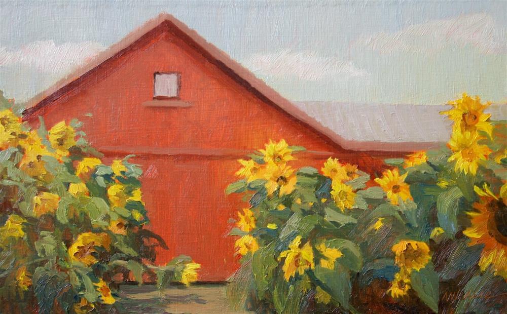 """""""#20 Sunflower alley"""" original fine art by Nancy Wallace"""