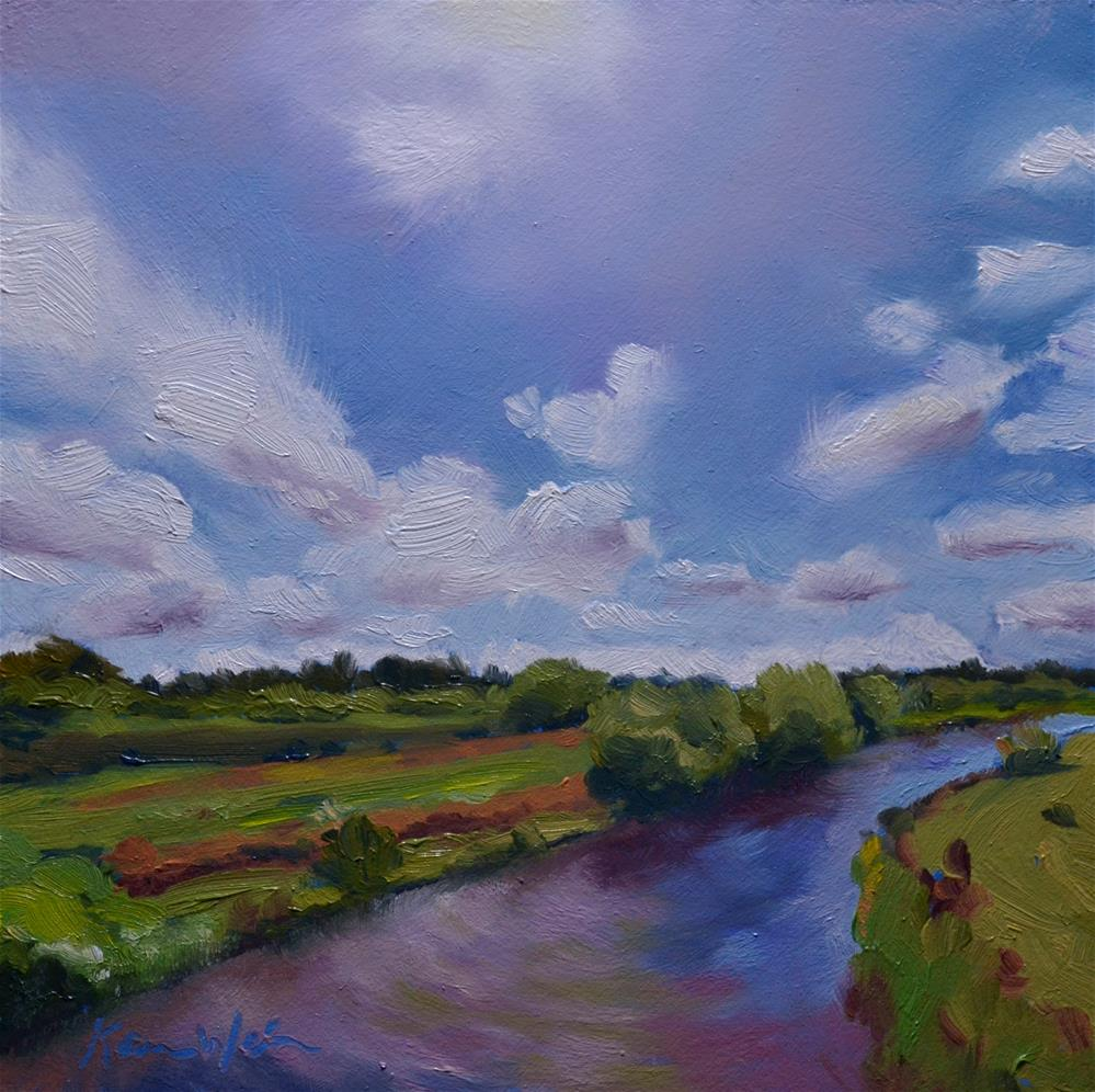 """A River Runs Through It"" original fine art by Karen Weber"