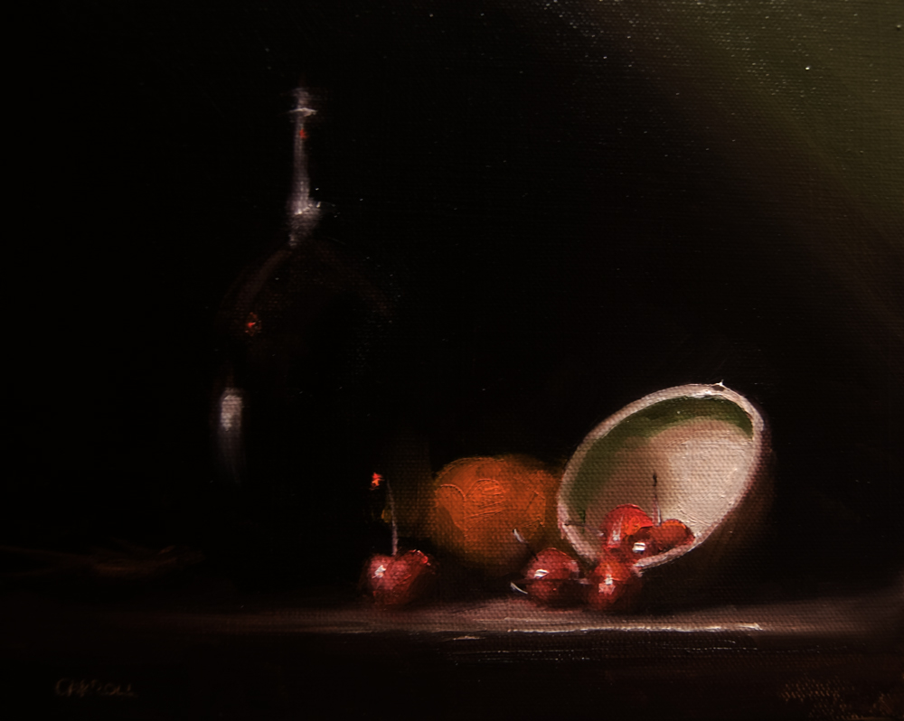"""Cherry Bowl"" original fine art by Neil Carroll"