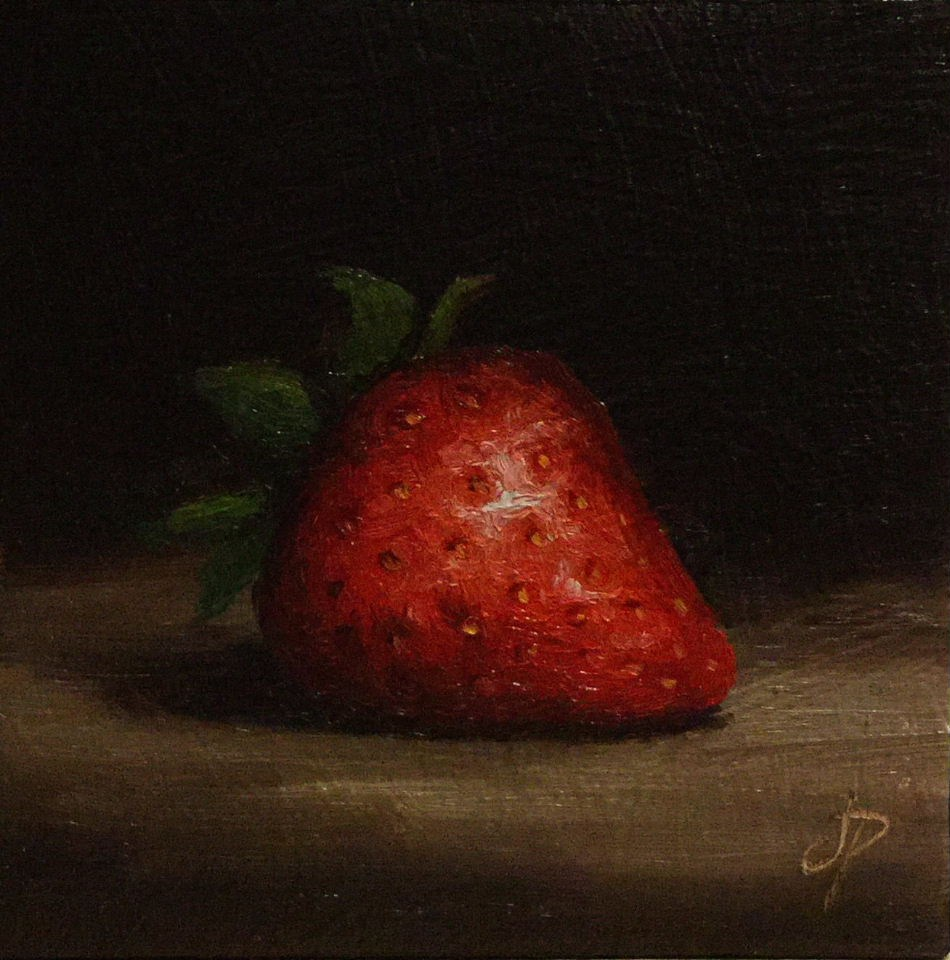 """Strawberry"" original fine art by Jane Palmer"