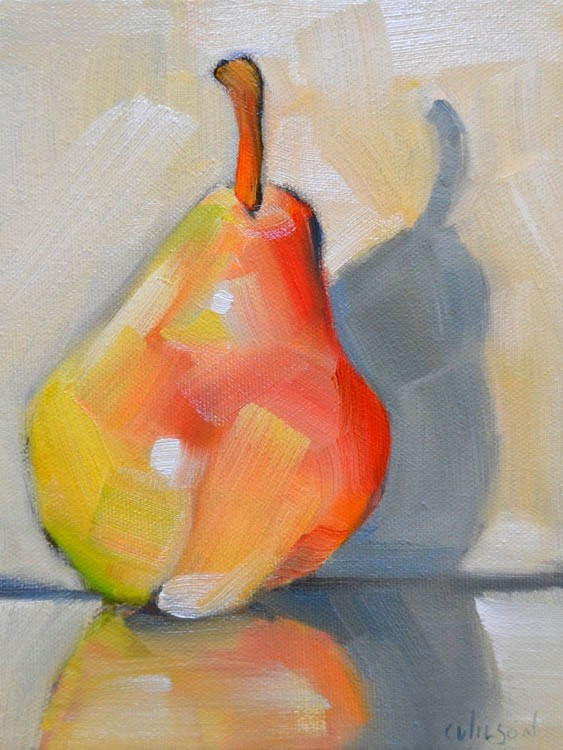 """Pale Pear"" original fine art by Cheryl Wilson"