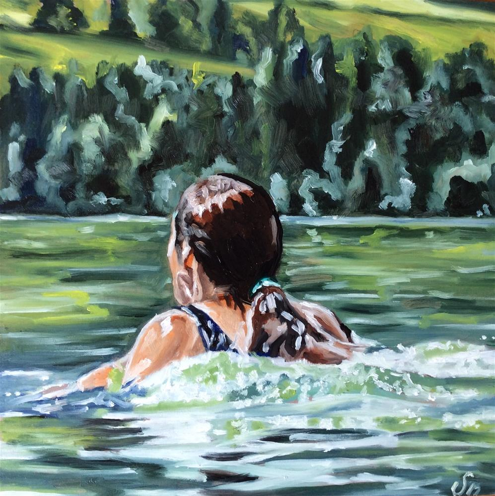 """Swimming"" original fine art by Sonja Neumann"