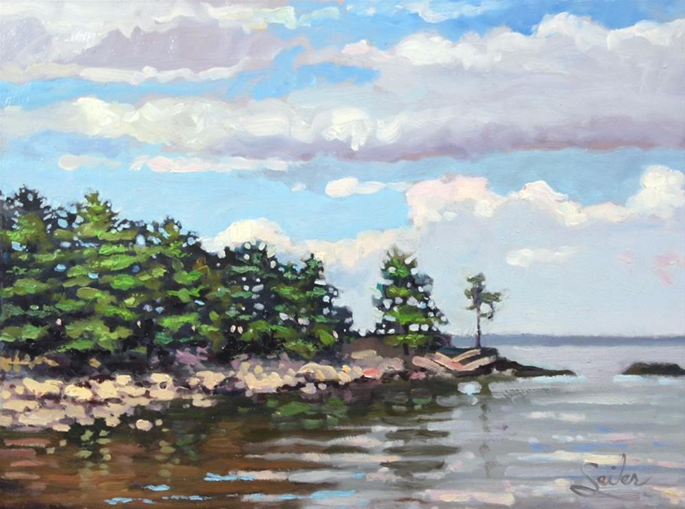 """Wetmore Landing Point"" original fine art by Larry Seiler"