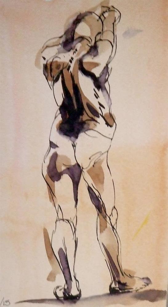 """""""toned paper"""" original fine art by Mitsuru Cope"""