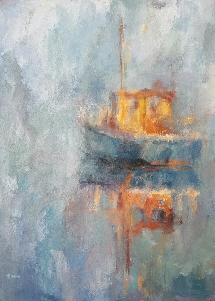 """""""Bon Voyage"""" original fine art by Nava Judith"""