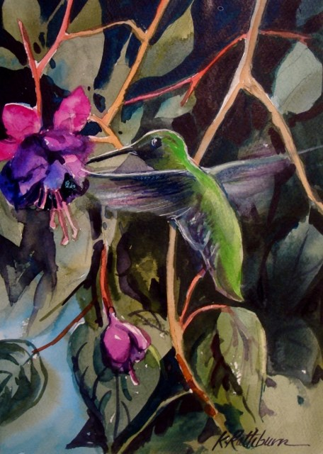 """Humming"" original fine art by Kathy Los-Rathburn"