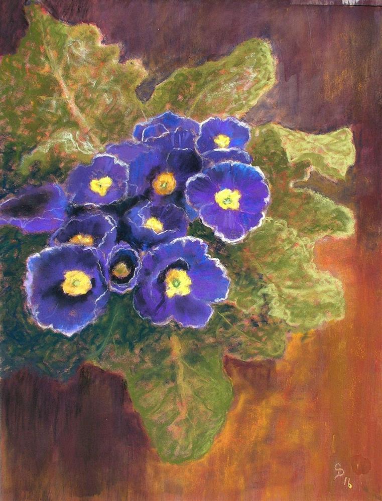 """Spring Blues"" original fine art by Christine Derrick"
