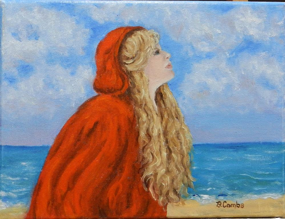 """The Girl in Red"" original fine art by Bebe Combs"