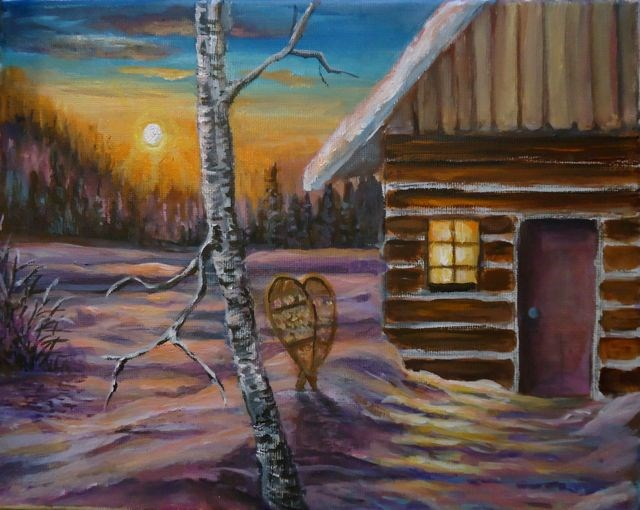 """No Place Like Home"" original fine art by Jackie Irvine"