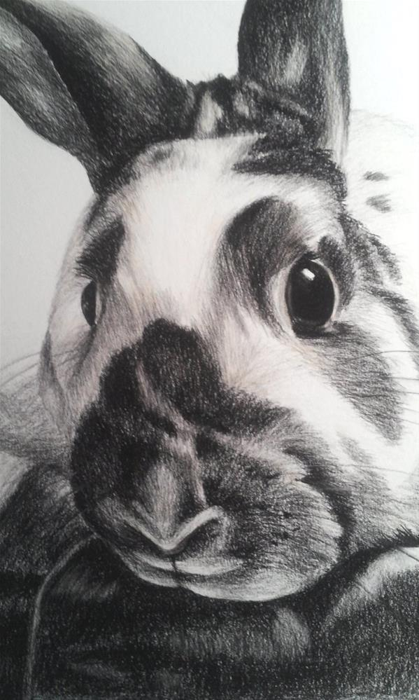 """Bunny Rabbit"" original fine art by Camille Morgan"
