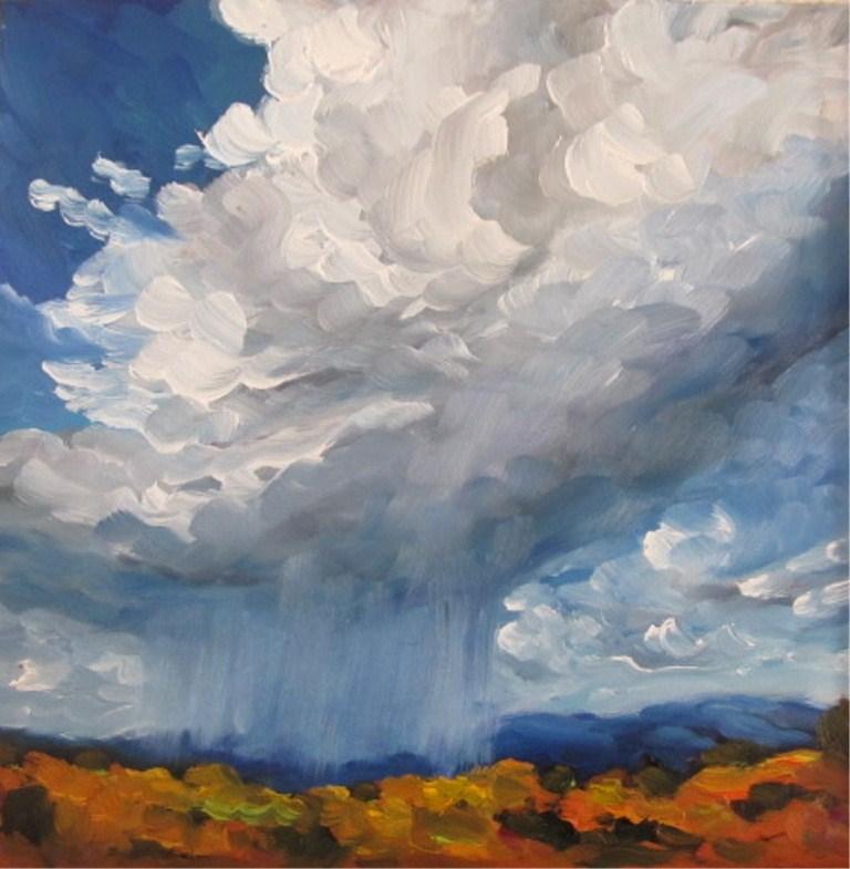 """Spring Rain"" original fine art by Dee Sanchez"