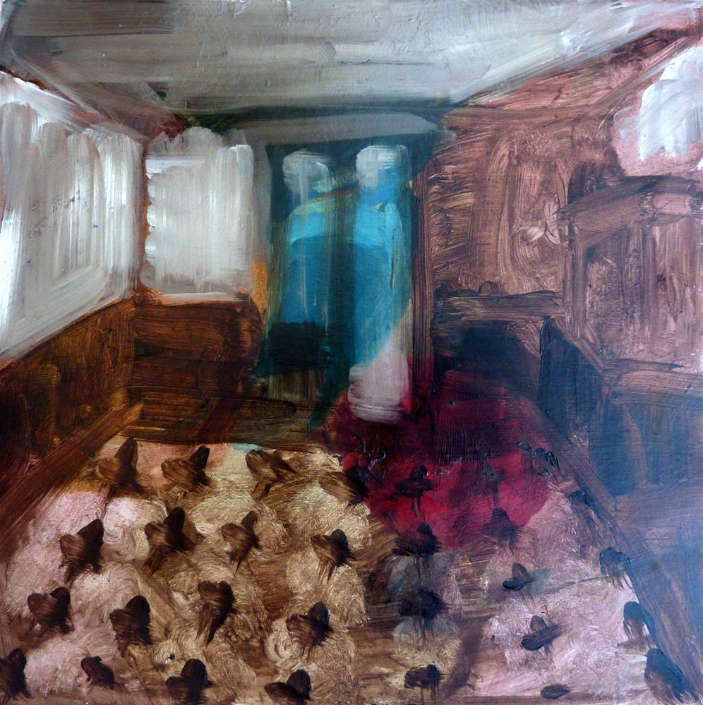"""Dunkler Raum / dark room"" original fine art by Mila Plaickner"