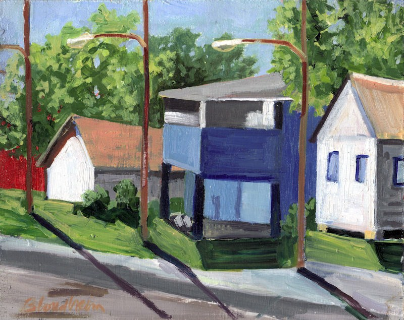 """Vintage Neighborhood"" original fine art by Linda Blondheim"