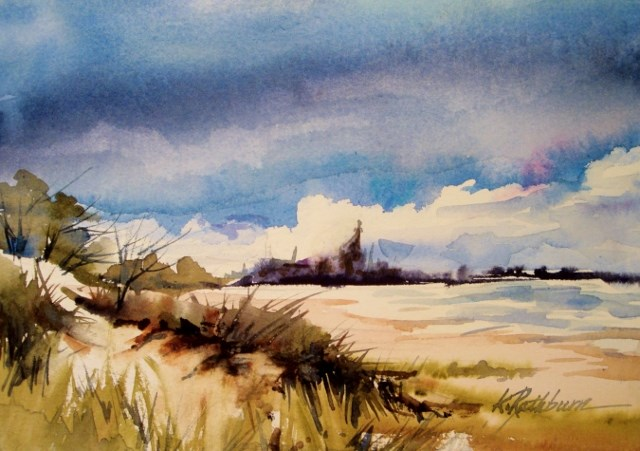 """When Sky Meets Dunes"" original fine art by Kathy Los-Rathburn"