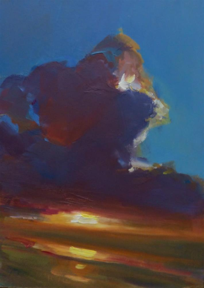 """CROWNED SUNSET "" original fine art by Doug Carter"