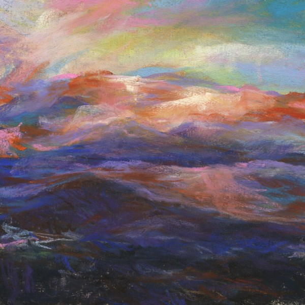 """IN A POCKET - 6 x 6 landscape pastel by Susan Roden"" original fine art by Susan Roden"