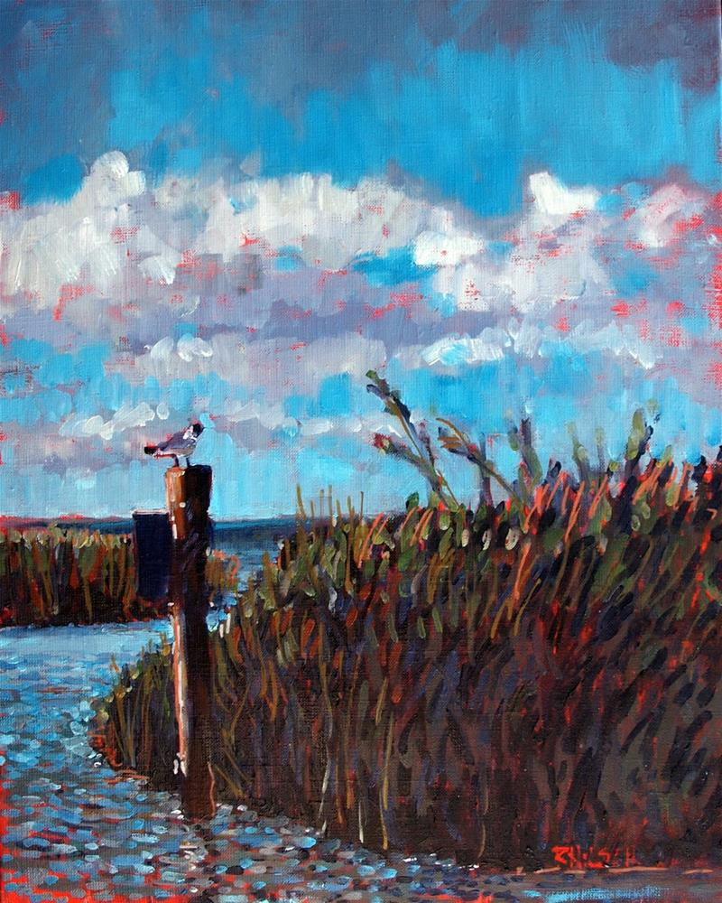 """No Wake"" original fine art by Rick Nilson"