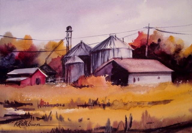 """Three Colors of Fall"" original fine art by Kathy Los-Rathburn"