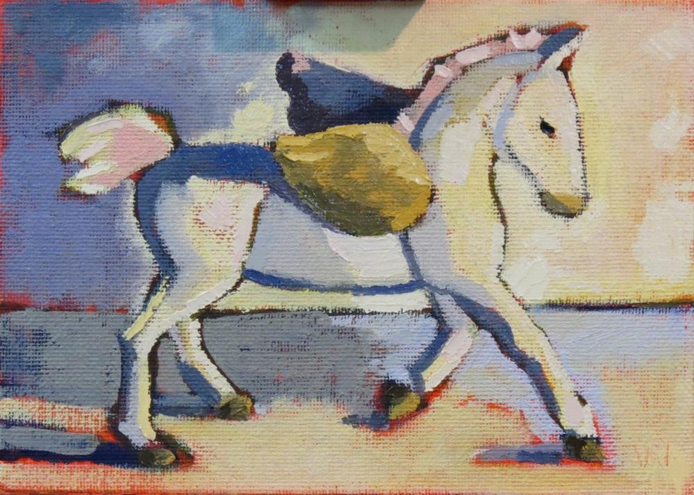 """Winged Horse"" original fine art by Joan Wiberg"