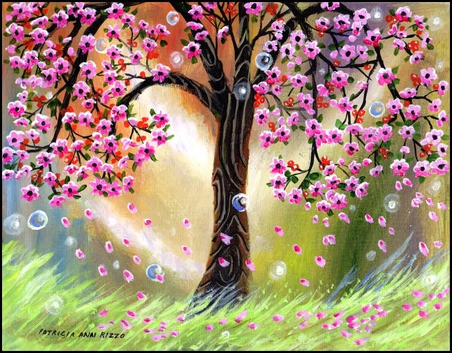 """Tree of Sweet, Sweet Dreams"" original fine art by Patricia Ann Rizzo"