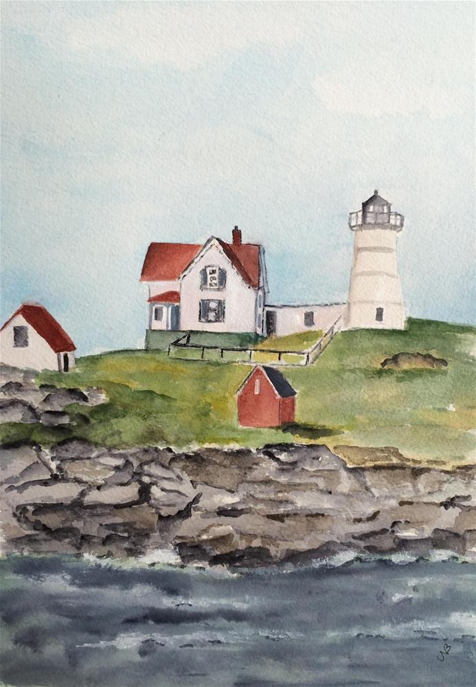 """Somewhere in Maine 17 x 14 (unframed 9 x 12  $55.00)"" original fine art by Nancy Beard"