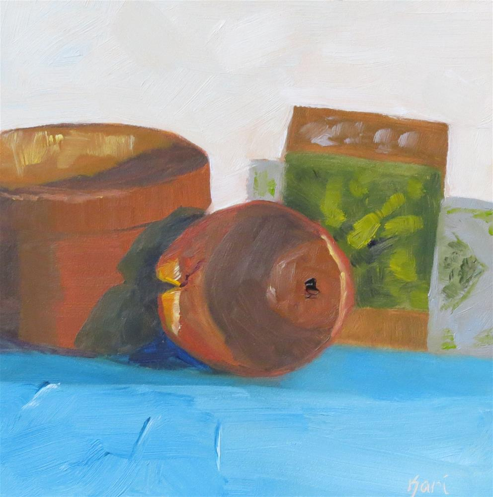 """Well Loved Pots"" original fine art by Kari Melen"